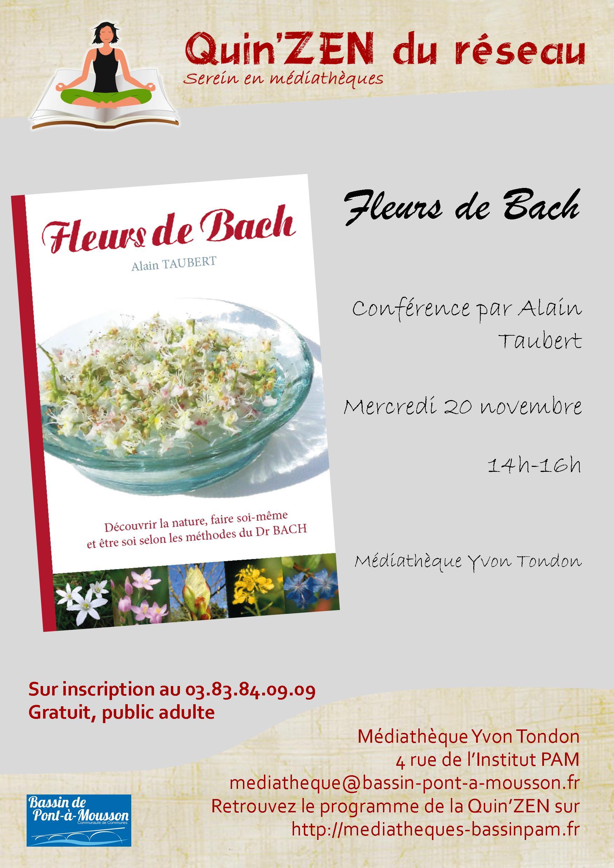 CONFÉRENCE : FLEURS DE BACH