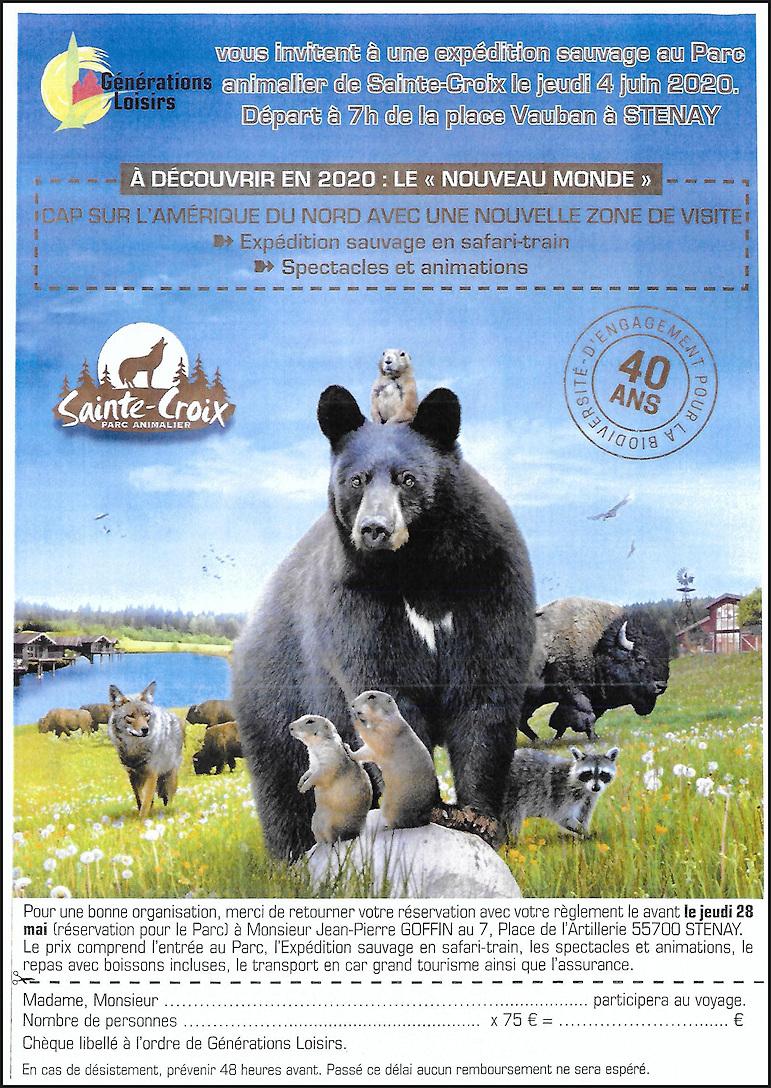 SORTIE AU PARC ANIMALIER DE SAINTE-CROIX