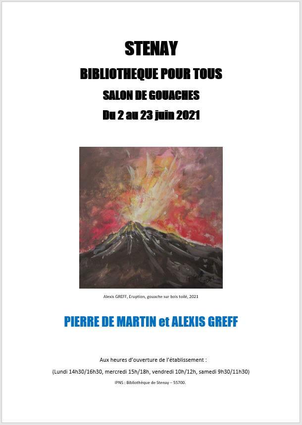 EXPOSITION - SALON DE GOUACHES - PIERRE DE MARTIN ET ALEXIS GREFF