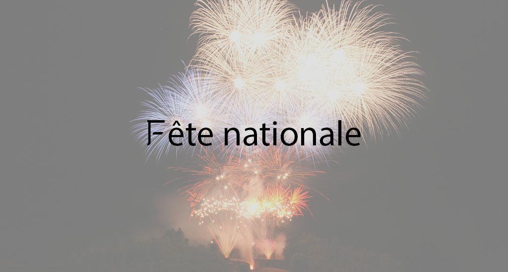 FÊTE NATIONALE ET FEU D'ARTIFICE