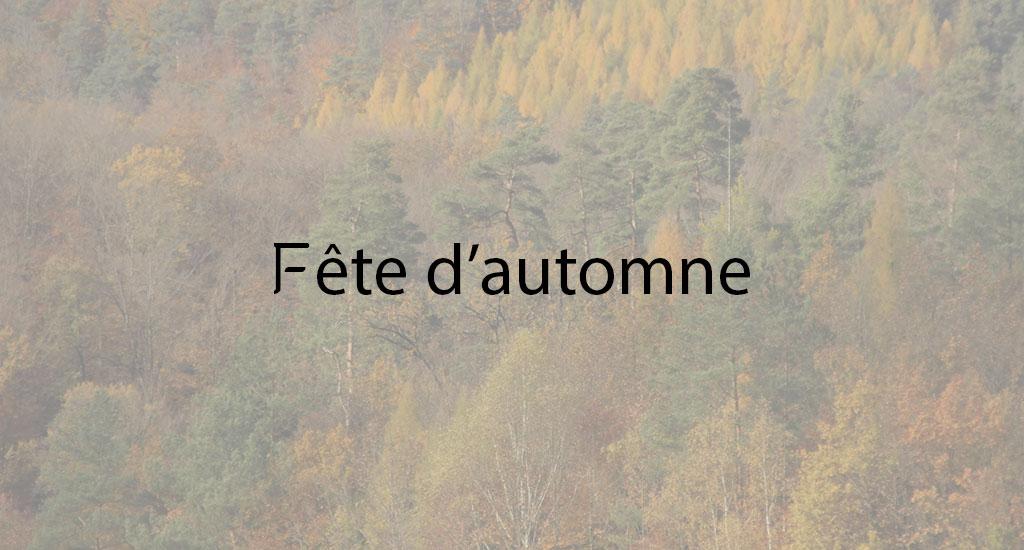 FETE D'AUTOMNE ET FETE DE LA POMME
