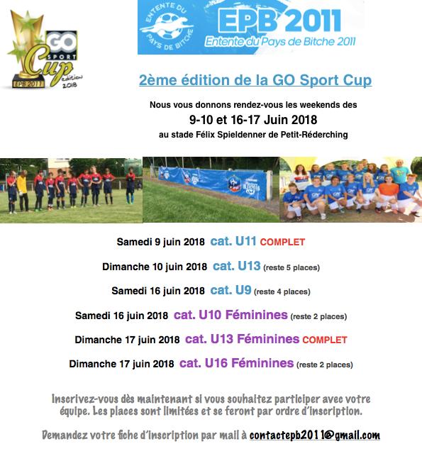 2ÈME ÉDITION DE LA GO SPORT CUP