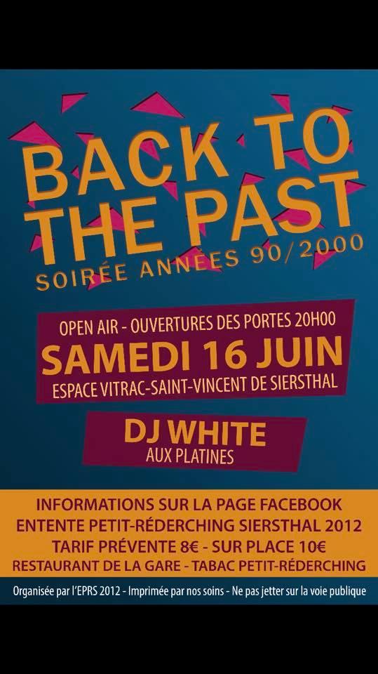 SOIRÉE ANNÉES 90 / 2000 BACK TO THE PAST