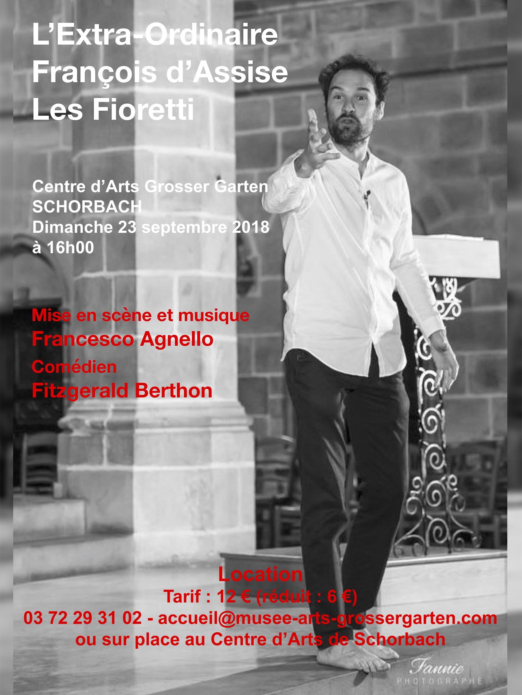 FRANÇOIS D'ASSISE 'LES FIORETTI' (REPORTÉ À SEPTEMBRE)