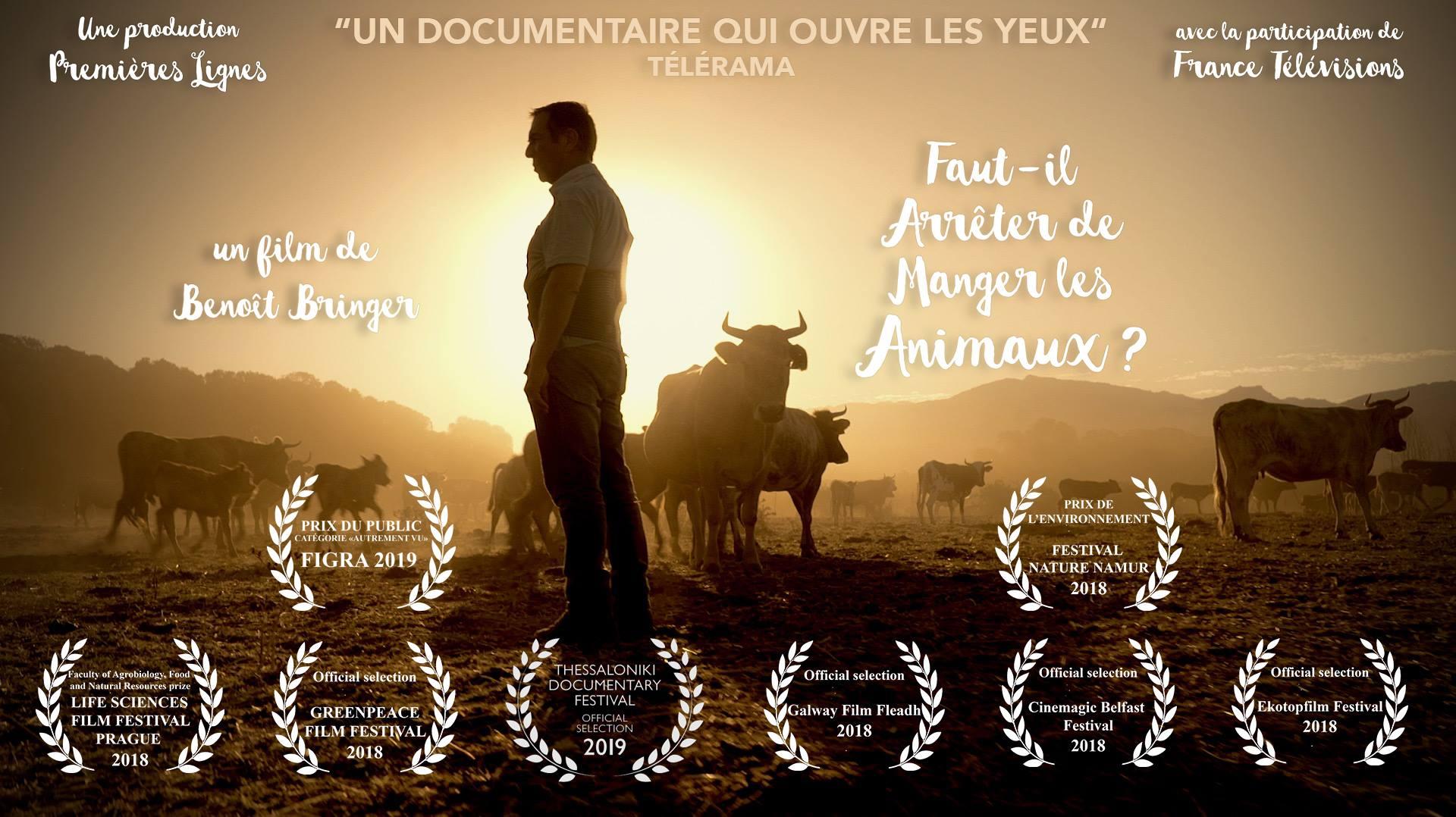 """SOIRÉE CINÉ-DÉBAT : """"FAUT-IL ARRÊTER DE MANGER LES ANIMAUX ?"""""""