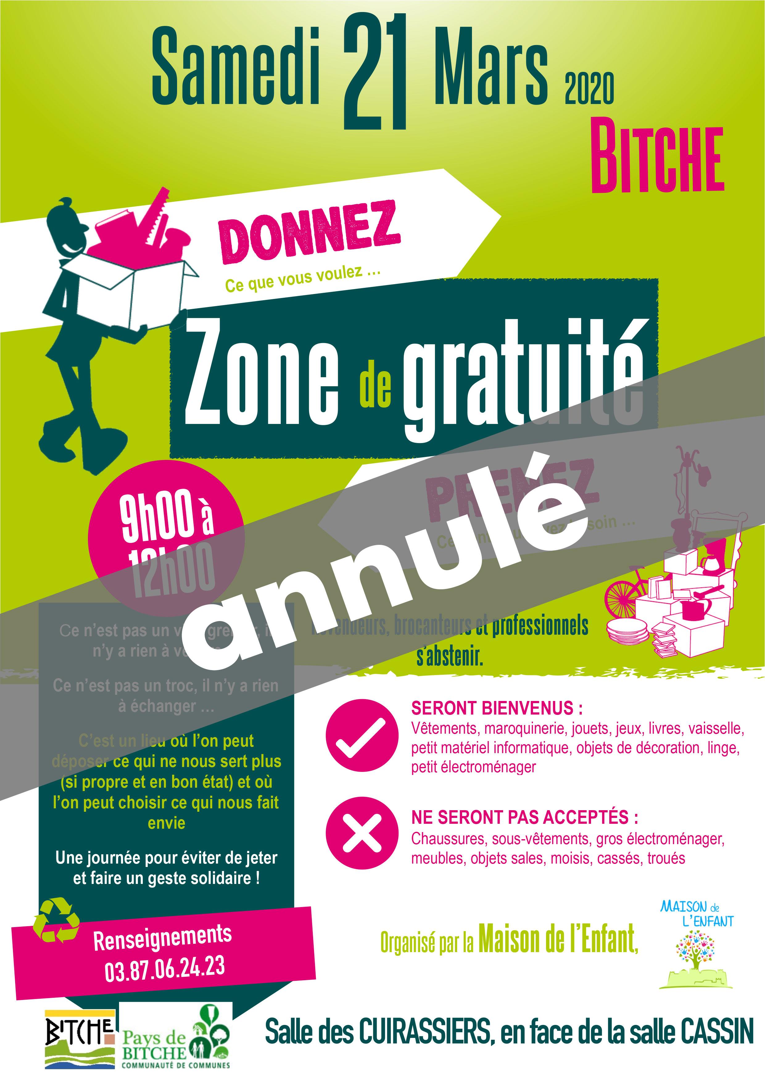 ZONE DE GRATUITÉ