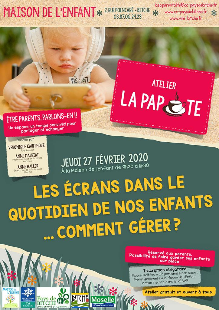 LA PAPOTE : LES ÉCRANS DANS LE QUOTIDIEN DE NOS ENFANTS