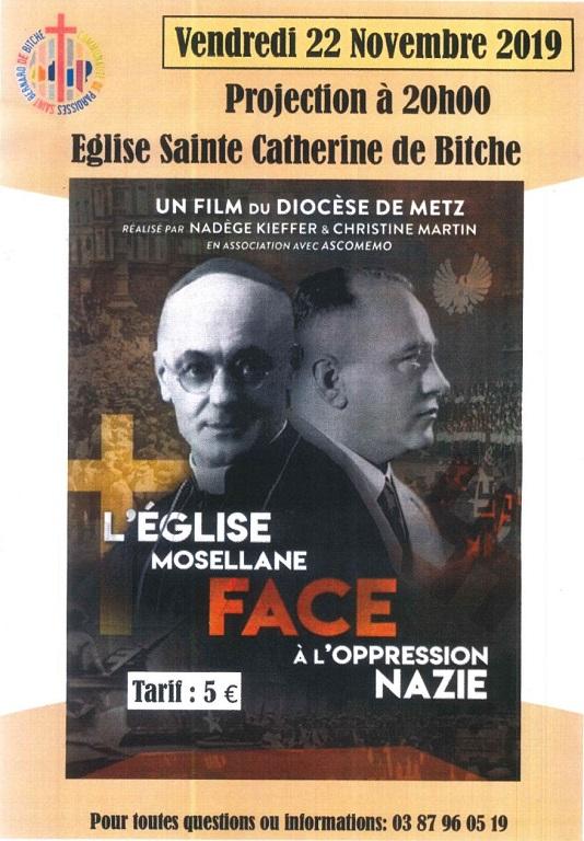 PROJECTION : L'ÉGLISE MOSELLANE FACE A L'OPPRESSION NAZIE