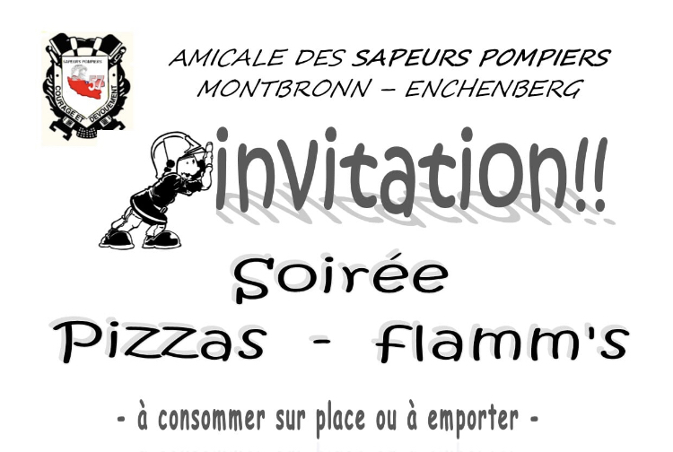 SOIRÉE PIZZAS/FLAMMS