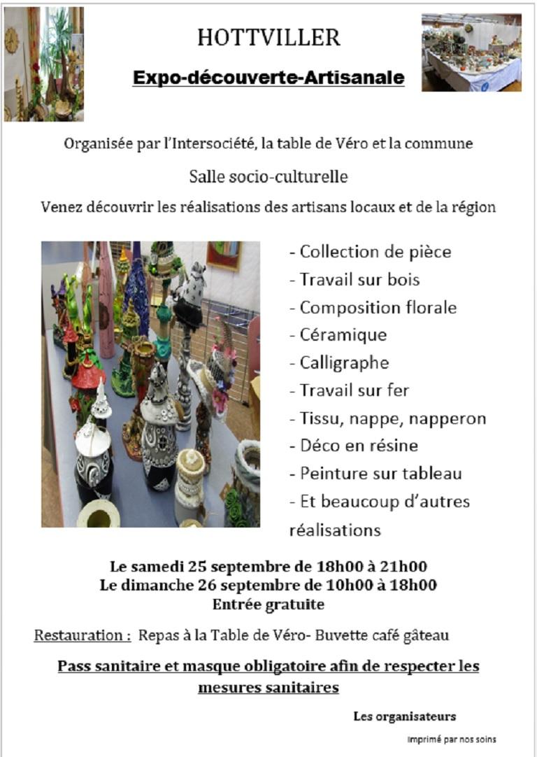EXPOSITION DE DÉCOUVERTE ARTISANALE
