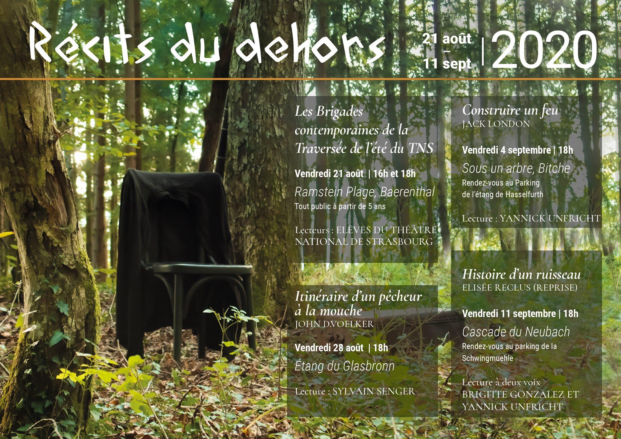 FESTIVAL DE LECTURE 'RÉCITS DU DEHORS' : LECTURES DU THÉÂTRE NATIONAL DE STRASBOURG