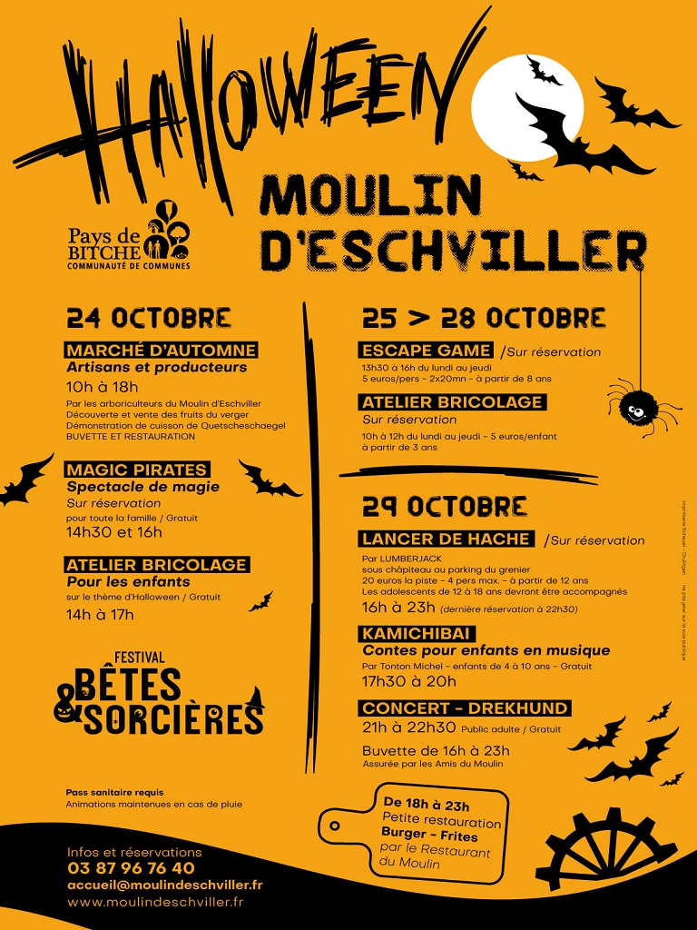 HALLOWEEN AU MOULIN FESTIVITES DU 24 OCTOBRE