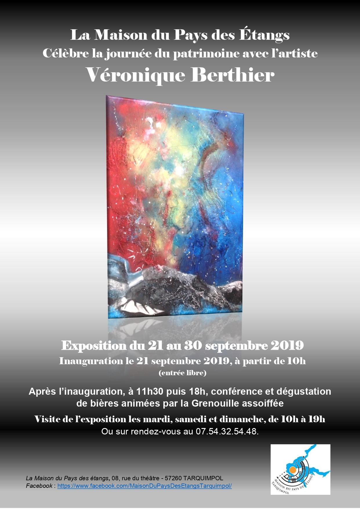 EXPOSITION DE PEINTURE DE VERONIQUE BERTHIER
