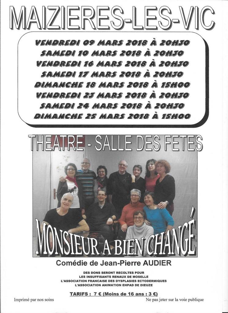 THEATRE DE BOULEVARD -  MONSIEUR A BIEN CHANGÉ