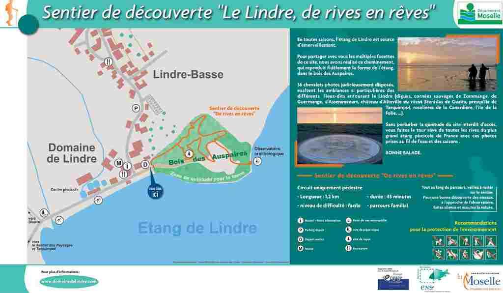 SENTIER DE DÉCOUVERTE-LE LINDRE, DE RIVES EN RÊVES