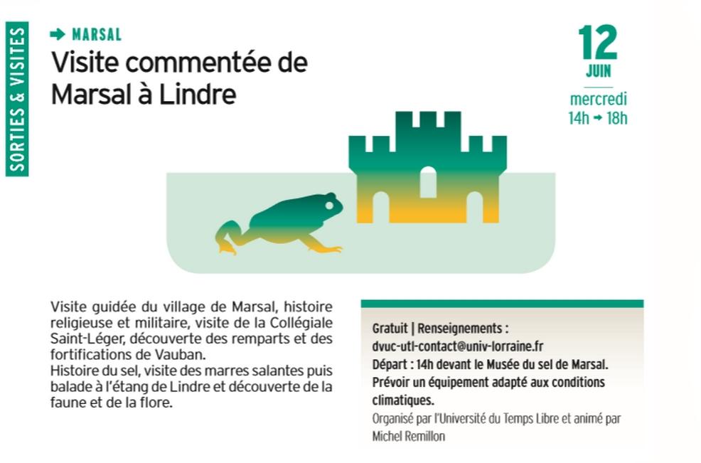 VISITE COMMENTÉE DE MARSAL À LINDRE