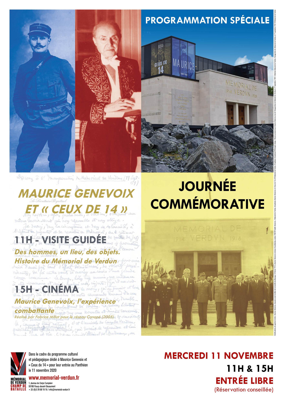 JOURNÉE COMMÉMORATIVE - HOMMAGE À MAURICE GENEVOIX