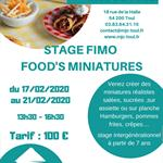 Nancy : STAGE FIMO FOOD'S MINIATURES