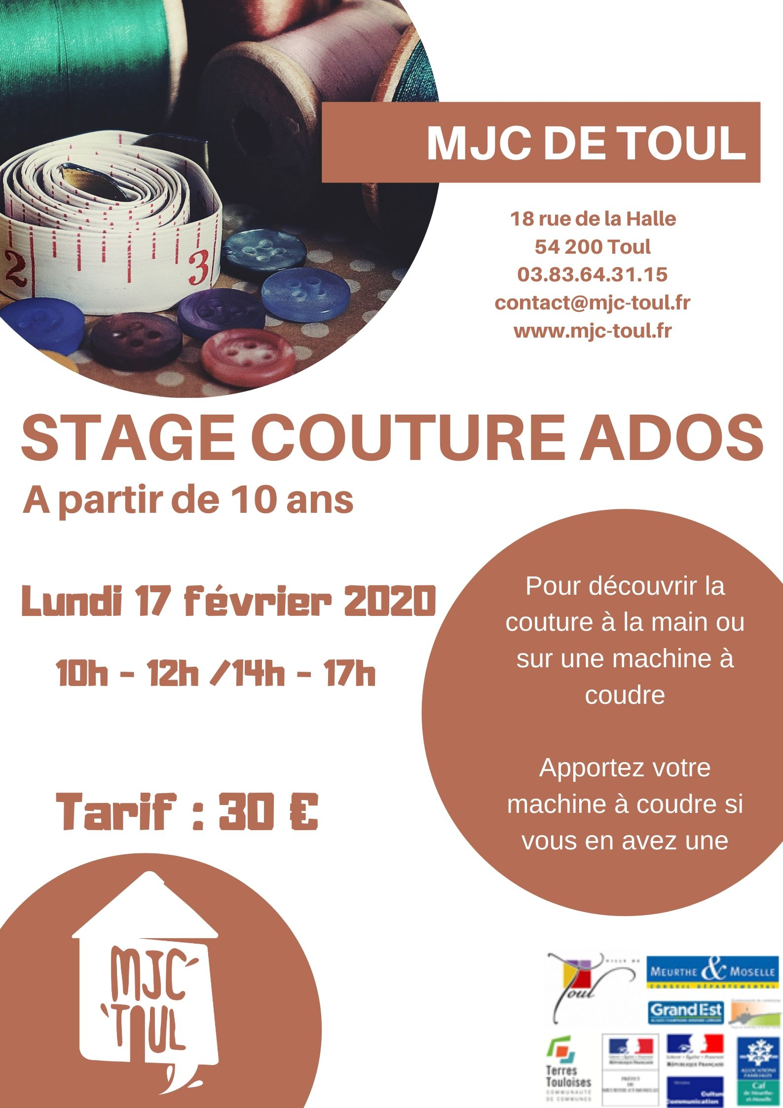 STAGE COUTURE ADOS
