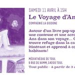Nancy : SPECTACLE 'LE VOYAGE D'ANA' - REPORTE